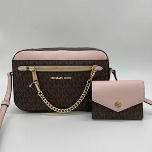 Michael Kors EW Chain Zip Xbody & Bifold Wallet